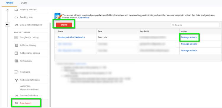 Google Data Import