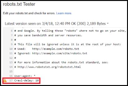 robots.txt tester image
